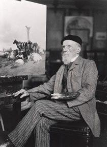 Cooper at his easel, c. 1891